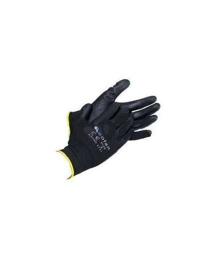 guantes 100%poliester negro t-9